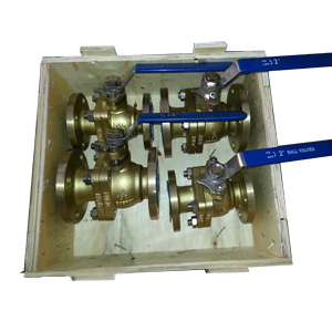PTFE Seated Aluminum Bronze Ball Valve, 150#