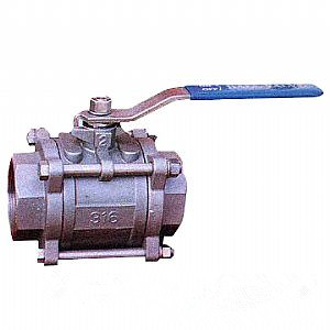 Threaded 2-PC Ball Valve, 1/8 Inch, 800 WOG