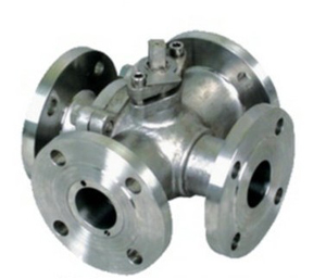 4 Ways Ball Valve, Cast Valve, WCB, 1 Inch