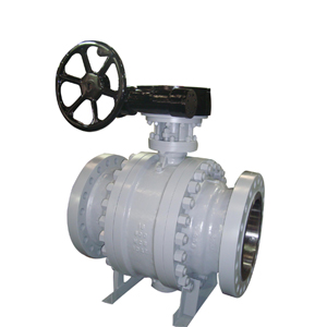 A105 3-PC Trunnion Mounted Ball Valve, API 6D