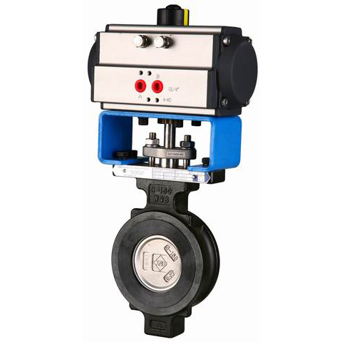 Pneumatic Butterfly Valve, Metal Seat, 300#, 600#