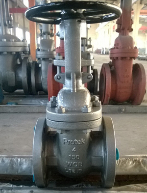 Solid Wedge Cast Steel Gate Valve, DN100, 150LB