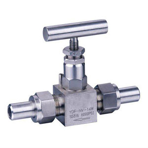A182 F316 CS Needle Valve, Tube End, 6000PSI